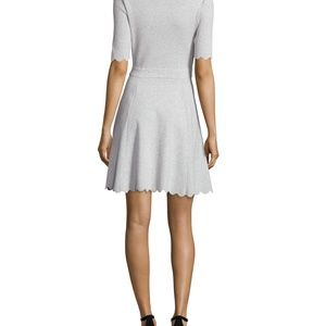 Milly Dresses - MILLY Heather Gray Scallop Ballet Fit &Flare Dress
